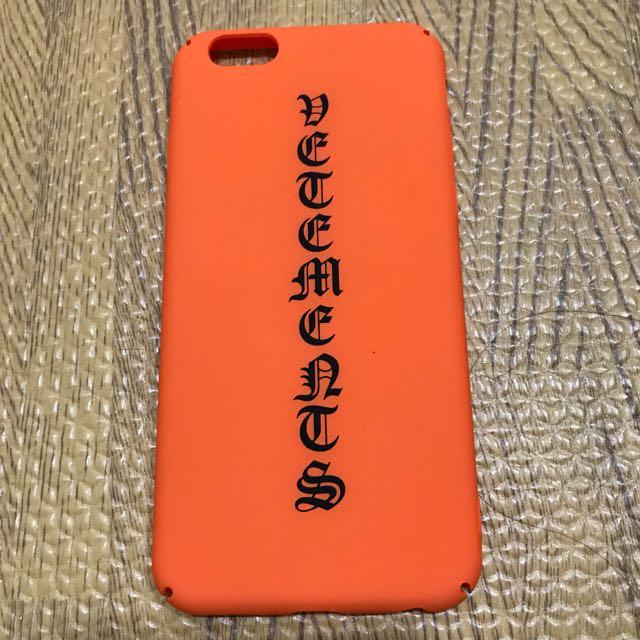 Vetements Iphone Case (orange)