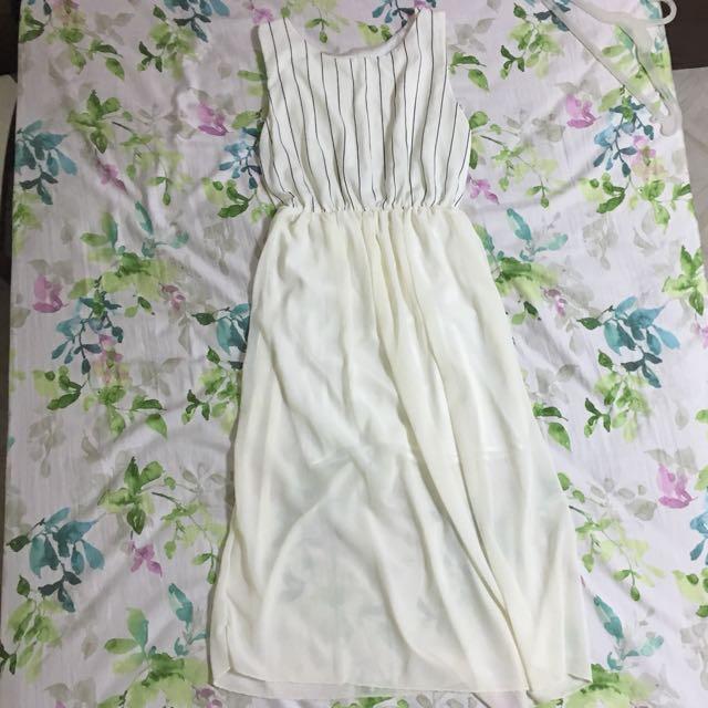 White Mqxi Dress