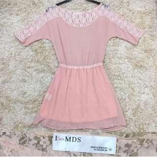 MDSacw Shoulder Dress