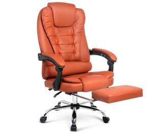 Executive Office Chair with Foot Rest - Amber