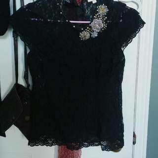 Vintage Lace Ruffle Top