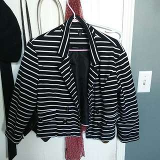 Nautical Style Stripe Blazer