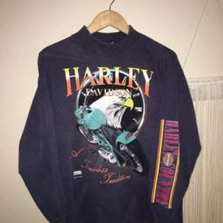 Vintage Harley Davidson Graphic Long Sleeve