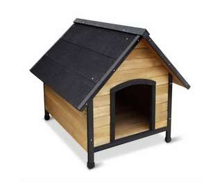 Wooden Dog Kennel – Black
