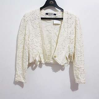 Broken White Blazer Outer
