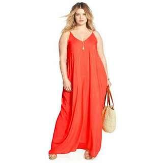 U.S. Style Plus Size Maxi Dress