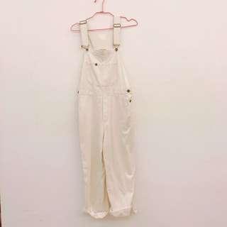 Sm2 純白吊帶褲