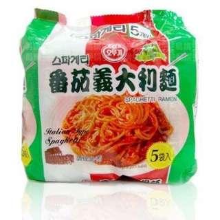韓國 不倒翁 OTTOGI 蕃茄義大利麵 150g*5入 快煮麵 韓國必買泡麵 番茄義大利麵