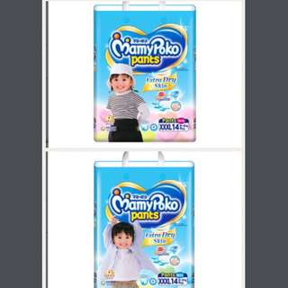 FLASHSALE: MamyPoko Extra Dry Skin Pants Diapers