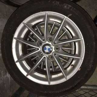 4 Original BMW Rims With Tyers