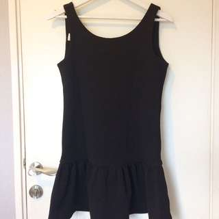 Ezra Low Back Black Mini Dress/dress pendek hitam