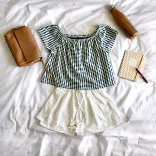 Zara Blue Crop Top