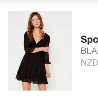 Glassons - Black Spotted Frill Dress