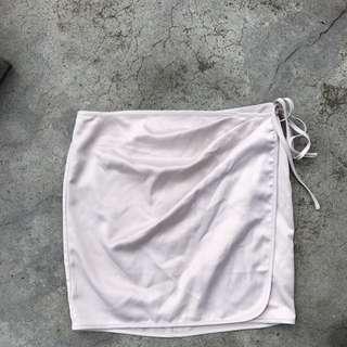 Bardot Silk Wrap Skirt