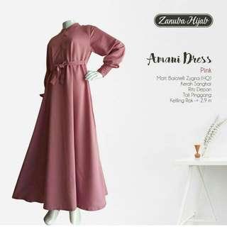 Dusty Pink Syari Dress
