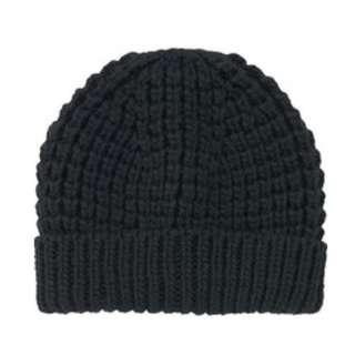 UNIQLO Black Low Gauge Knit Beanie