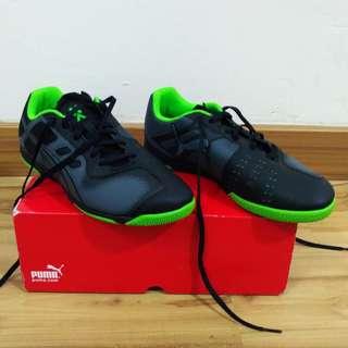 ff07fe1e123 Puma Size UK8 US9 Futsal Nevoa Lite Ombre Blue Black Fluorescent Green Shoes