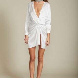 Lioness White Silk Dress