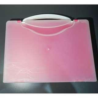 Hardcover Plastic Folder Bag