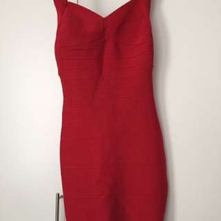 Bandage Red Dress Size Medium