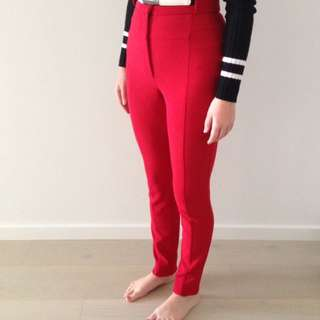 PRICE DROP: CUE High Waisted Red Pants