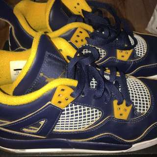 AIR JORDAN 4 RETRO BG (Blue & Yellow)