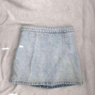 Faded Style Denim Skirt