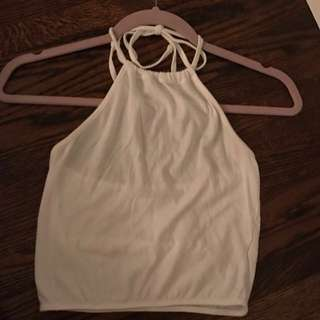 Brandy Melville cropped halter top