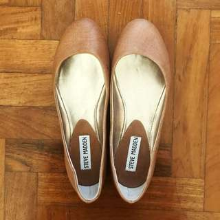 New Steve Madden Brown Leather Flats
