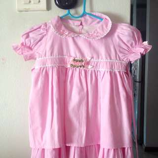 Lovely Lace Baby Pink Dress