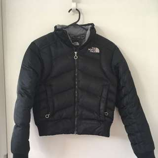 North Face Goose Down Bomber Puffer Puffy Jacket Black Xs