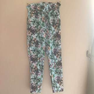 Blue Flower Pants