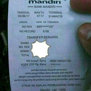 PENIPUAN E-CASH MANDIRI