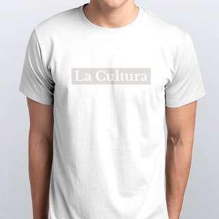 White On White La Cultura Tee