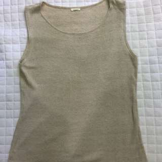 Knitted Sleeveless Top (beige)