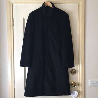 Winter Black Wool Coat (size M)
