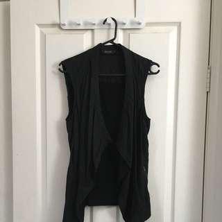 Black Decjuba Vest Size S With Pockets