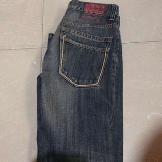 Folded and Hung Jeans