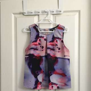She's Electric Size 8 Print Top