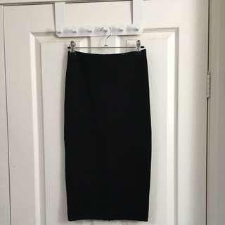 H&M Size S Black Bodycon Skirt