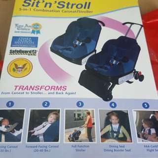 5 In 1 Carseat N Stroller