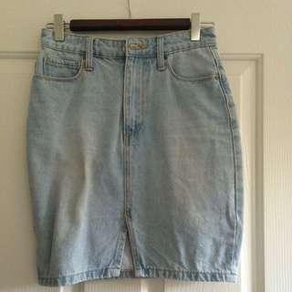 Denim Skirt From Glassons