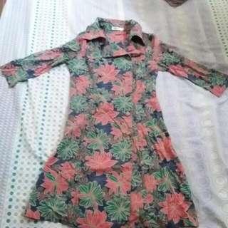 mint batik dress