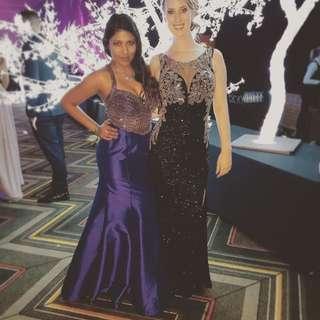Purple Embellished Formal Dress