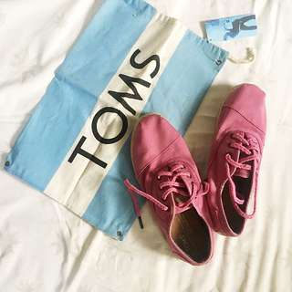 Original Toms Pink Cordones