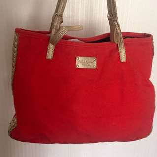 Kate Spade Red/Gold Tote Bag