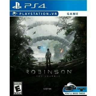 Playstation VR games Robinson The Journey VR