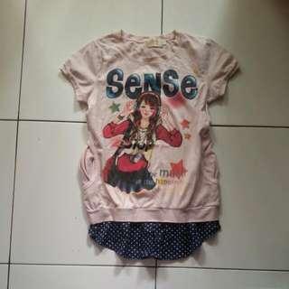 Free Ongkir Cute Pink T shirt