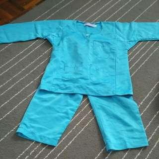 Blue Turquoise Baju Melayu For Boys 2-3 Years