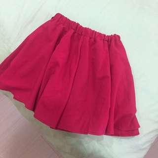 正紅鬆緊短裙🌹
